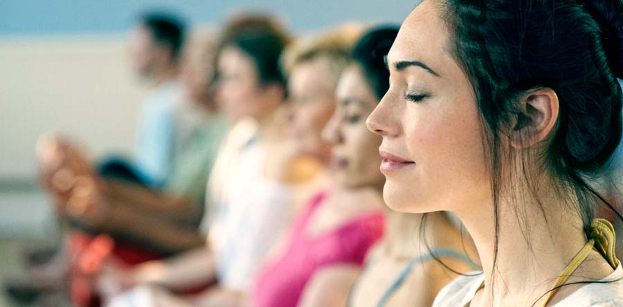 Dhara Wellness Garden - People Meditating